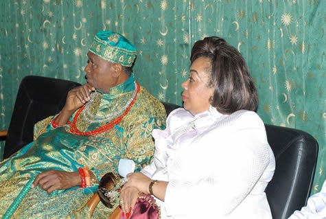 From left: Chief Igbinedion and his lovely spouse